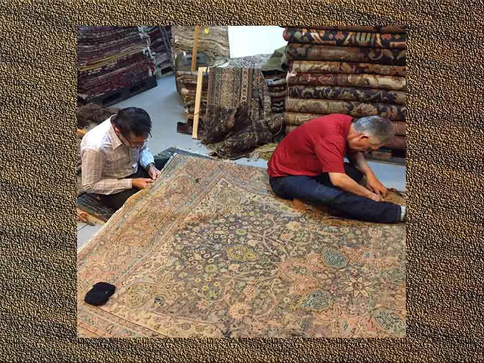restauration de tapis anciens la galaxy du tapis paris france. Black Bedroom Furniture Sets. Home Design Ideas